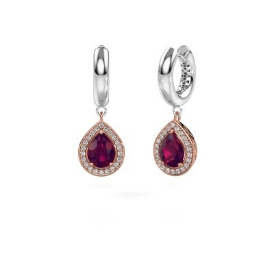Picture of Drop earrings Barbar 1 585 rose gold rhodolite 8x6 mm