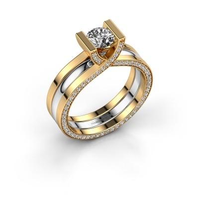 Foto van Ring Kenisha 585 goud diamant 1.08 crt