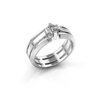 Foto van Heren ring Sem 950 platina zirkonia 4.7 mm