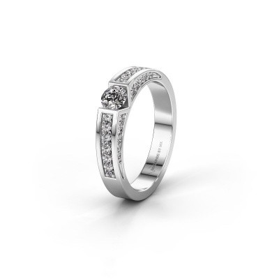 Trouwring WH2098L 585 witgoud diamant ±4x3 mm