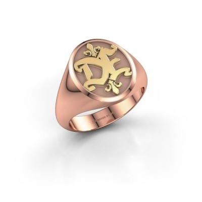 Foto van Monogram ring Xandro 585 rosé goud