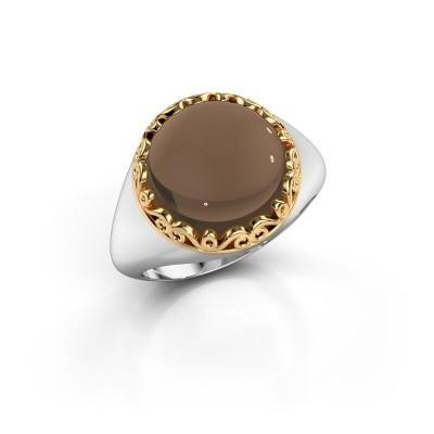 Picture of Ring Birgit 585 white gold smokey quartz 12 mm