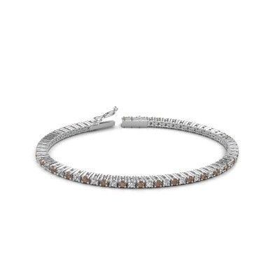 Foto van Tennisarmband Karisma 585 witgoud bruine diamant 3.41 crt