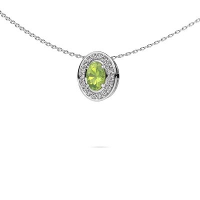 Picture of Necklace Madelon 585 white gold peridot 6x4 mm