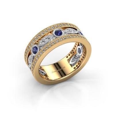 Foto van Ring Jessica 585 goud saffier 2.5 mm