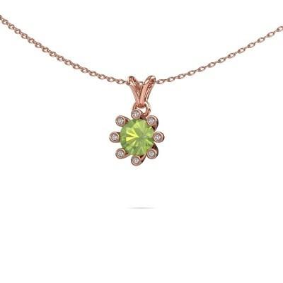 Picture of Pendant Carola 3 585 rose gold peridot 6 mm