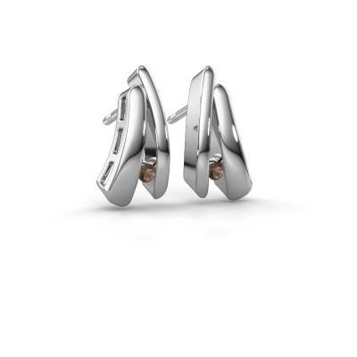 Bild von Ohrringe Liesel 925 Silber Rauchquarz 2 mm