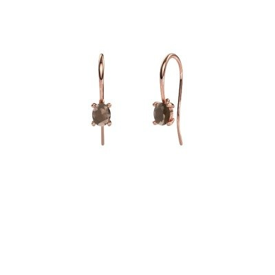 Picture of Drop earrings Cleo 375 rose gold smokey quartz 6x4 mm