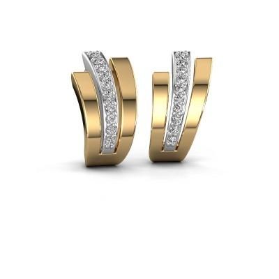 Foto van Oorbellen Emeline 585 witgoud diamant 0.20 crt