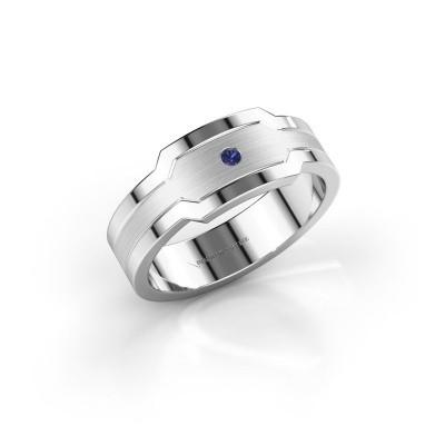 Foto van Heren ring Guido 950 platina saffier 2 mm