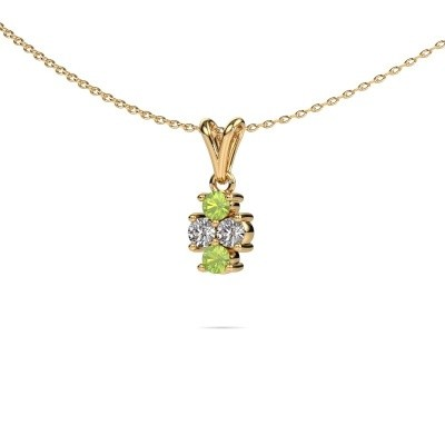Picture of Necklace Richelle 375 gold peridot 3 mm