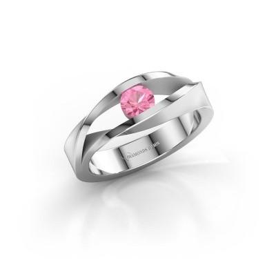 Foto van Ring Ruthanne 925 zilver roze saffier 4.2 mm