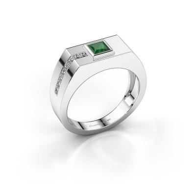 Foto van Heren ring Robertus 1 950 platina smaragd 4 mm