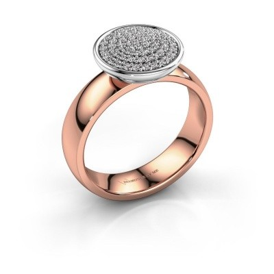Foto van Ring Tilda 585 rosé goud lab created 0.305 crt