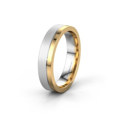 Trouwring WH0300M15BPM 585 witgoud ±5x2 mm