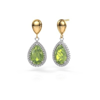 Picture of Drop earrings Cheree 1 585 white gold peridot 12x8 mm