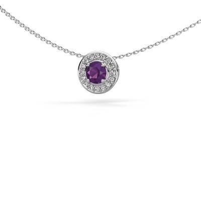 Picture of Pendant Agaat 585 white gold amethyst 5 mm