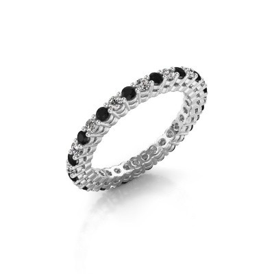 Picture of Stackable ring Rufina 3 585 white gold black diamond 0.986 crt