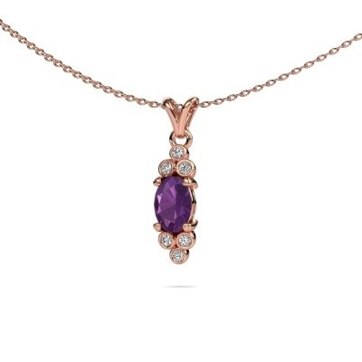 Picture of Pendant Lucy 2 585 rose gold amethyst 7x5 mm