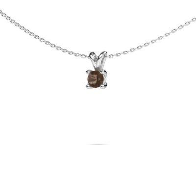 Picture of Necklace Sam round 950 platinum smokey quartz 4.2 mm