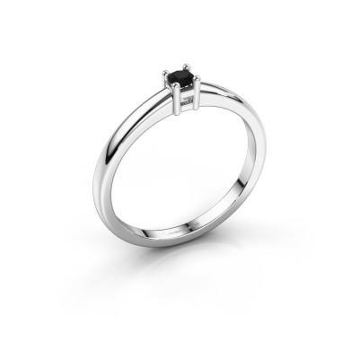 Foto van Promise ring Eline 1 585 witgoud zwarte diamant 0.12 crt