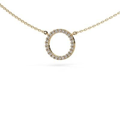 Bild von Anhänger Circle 585 Gold Diamant 0.18 crt