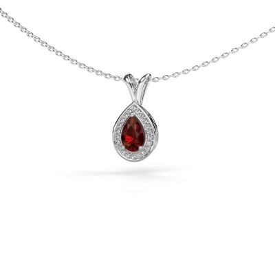 Picture of Necklace Ginger 585 white gold garnet 6x4 mm