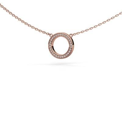 Foto van Hanger Round 1 375 rosé goud diamant 0.075 crt