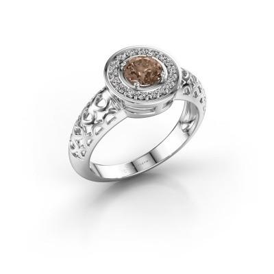 Foto van Ring Katalina 950 platina bruine diamant 0.62 crt