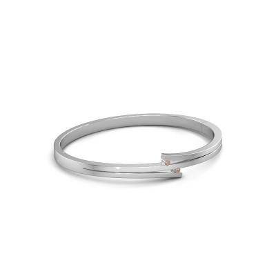 Foto van Armband Roxane 585 witgoud bruine diamant 0.06 crt