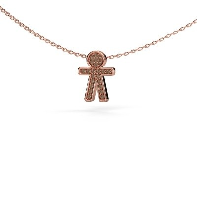 Picture of Pendant Boy 375 rose gold brown diamond 0.115 crt