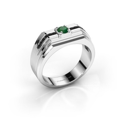 Foto van Heren ring Oliver 950 platina smaragd 4 mm