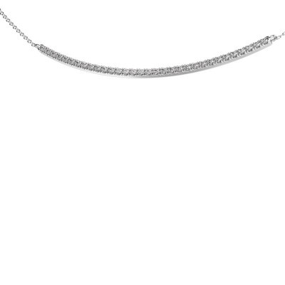Picture of Bar necklace Simona 925 silver zirconia 1.5 mm