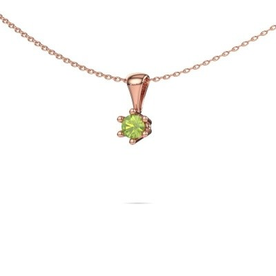 Picture of Necklace Fay 585 rose gold peridot 4 mm