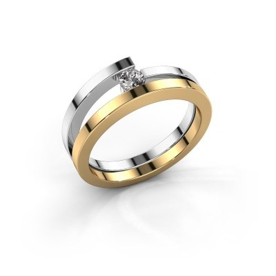 Ring Sandy 585 goud diamant 0.15 crt