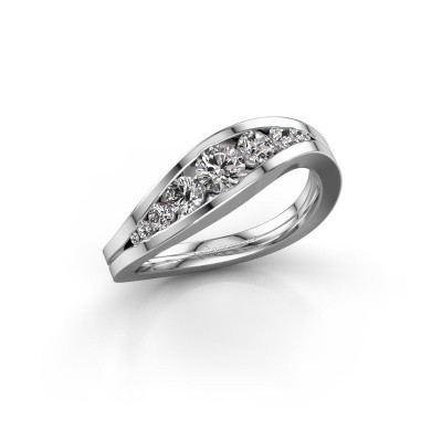 Foto van Ring Sigrid 2 925 zilver diamant 0.594 crt