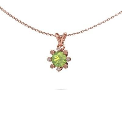 Picture of Pendant Carola 2 585 rose gold peridot 6 mm