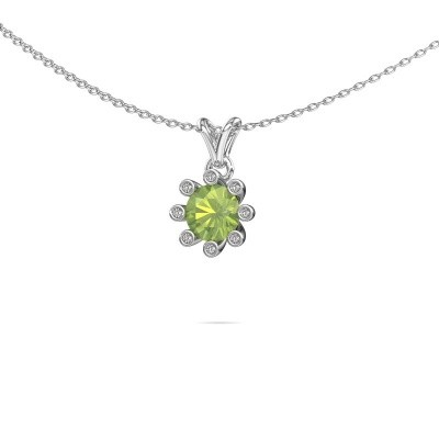 Picture of Pendant Carola 3 375 white gold peridot 6 mm