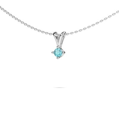 Picture of Necklace Jannette 925 silver blue topaz 3.7 mm