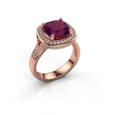 Foto van Ring Lili 375 rosé goud rhodoliet 9 mm