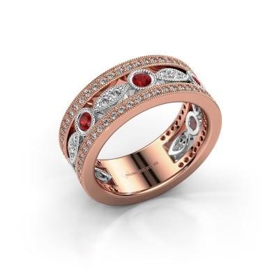 Foto van Ring Jessica 585 rosé goud robijn 2.5 mm