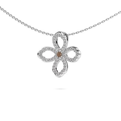 Picture of Necklace Chelsea 585 white gold brown diamond 0.31 crt