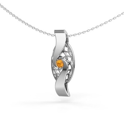 Picture of Pendant Darleen 585 white gold citrin 3 mm