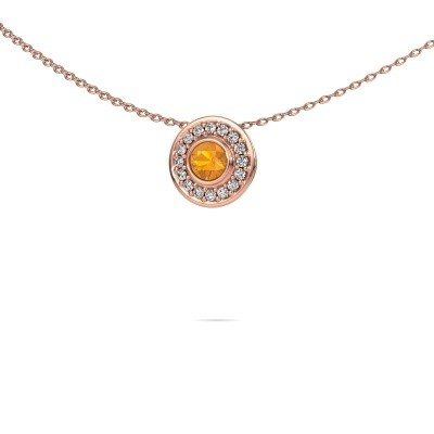 Picture of Necklace Gretta 375 rose gold citrin 4 mm