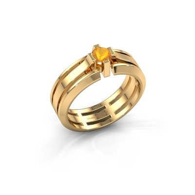 Foto van Heren ring Sem 585 goud citrien 4.7 mm