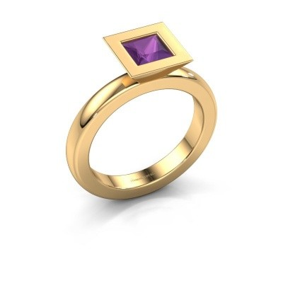 Stapelring Sindy Square 585 goud amethist 5 mm