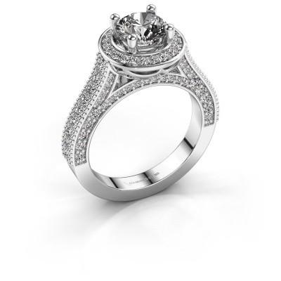 Verlovingsring Joelle 585 witgoud diamant 2.027 crt