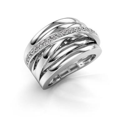 Foto van Ring Clair 1 585 witgoud diamant 0.315 crt
