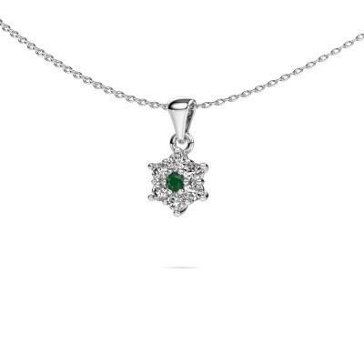 Foto van Ketting Chantal 925 zilver smaragd 2.4 mm