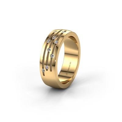Trouwring WH0134L26B 585 goud diamant ±6x2 mm